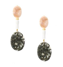 Sloane Stone Statement Earrings
