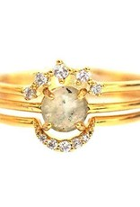 Stackable Ring Set with Circle Stone - Size 7