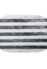 Black & White Striped Marble Tray