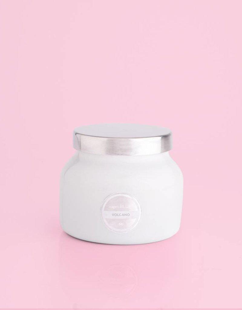 Volcano Candle - Petite White Jar