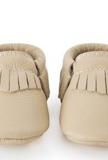 Latte Genuine Leather Baby Moccasins - 6-12 ms