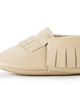 Latte Genuine Leather Baby Moccasins - 12-18 ms