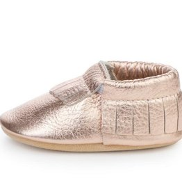 Rose Gold Baby Moccasins - 6-12 ms