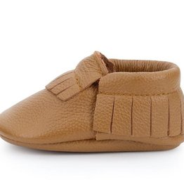 Classic Brown Genuine Leather Baby Moccasins - 6-12 ms