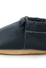 Black and Tan Fringeless Moccasins - 18-24 ms