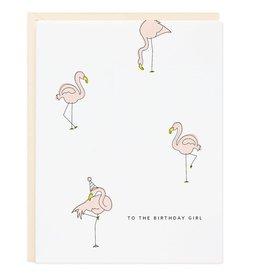 Birthday Girl Flamingo Card