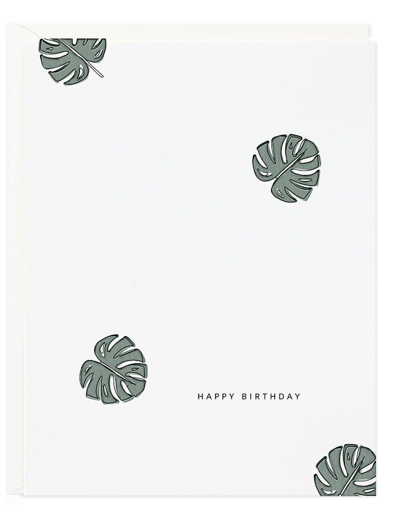 Philodendron Birthday Card