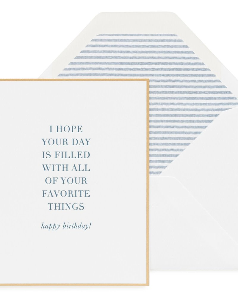 Your Favorite Things Card