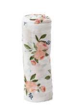 Cotton Muslin Swaddle - Watercolor Roses