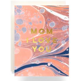 Marble Mom I Love You Card