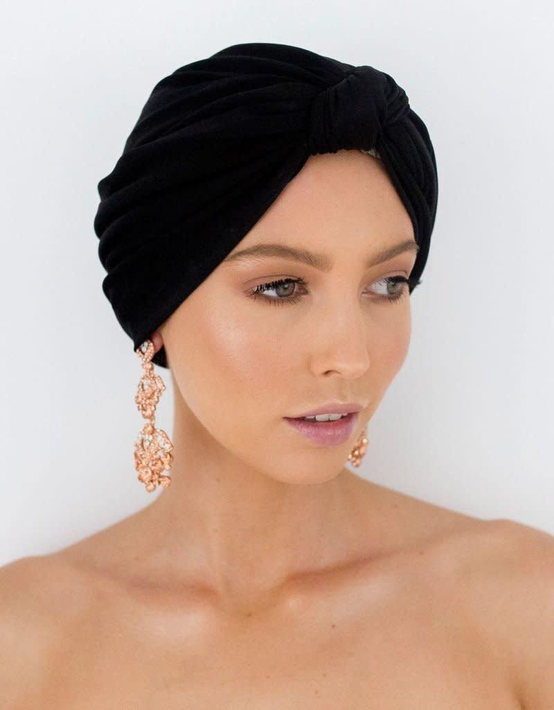 Dahlia Shower Cap - Black