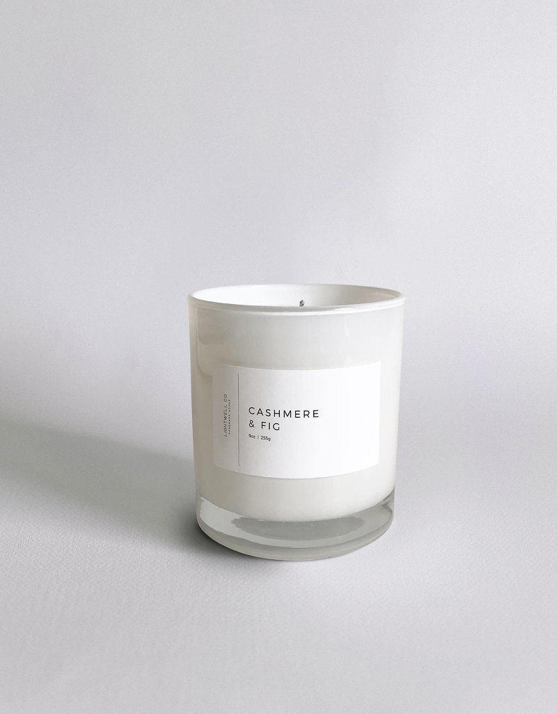 Cashmere & Fig White Tumbler Candle