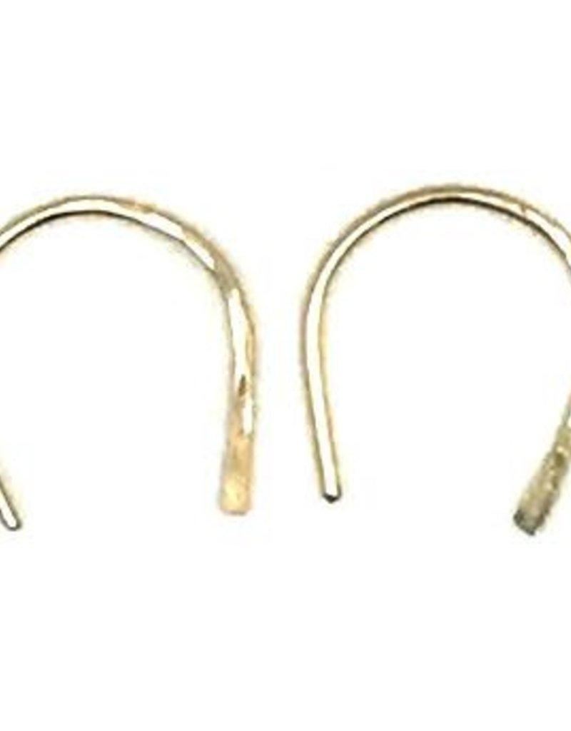 Gold Horseshoe Earring