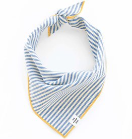 French Blue Stripe Dog Bandana - Small