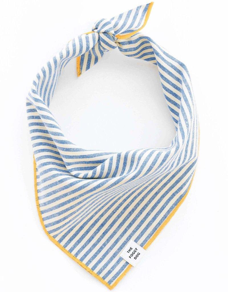 French Blue Stripe Dog Bandana - Small