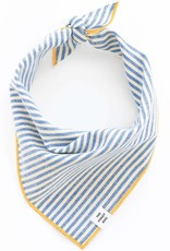French Blue Stripe Dog Bandana - Medium
