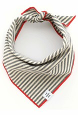 Charcoal Stripe Dog Bandana - Small