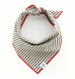 Charcoal Stripe Dog Bandana - Large