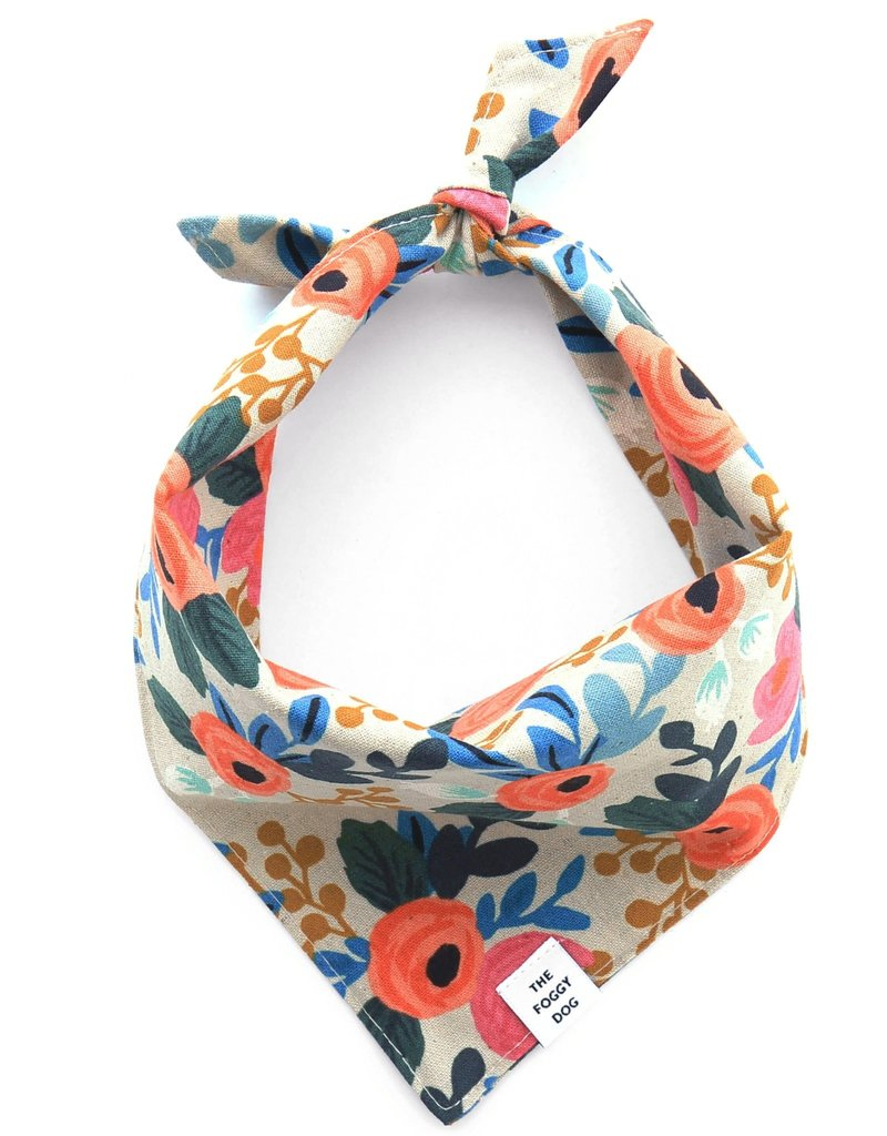 Rosa Floral Natural Bandana - Medium