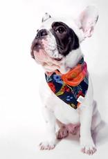 Painted Peonies Midnight Dog Bandana - Small