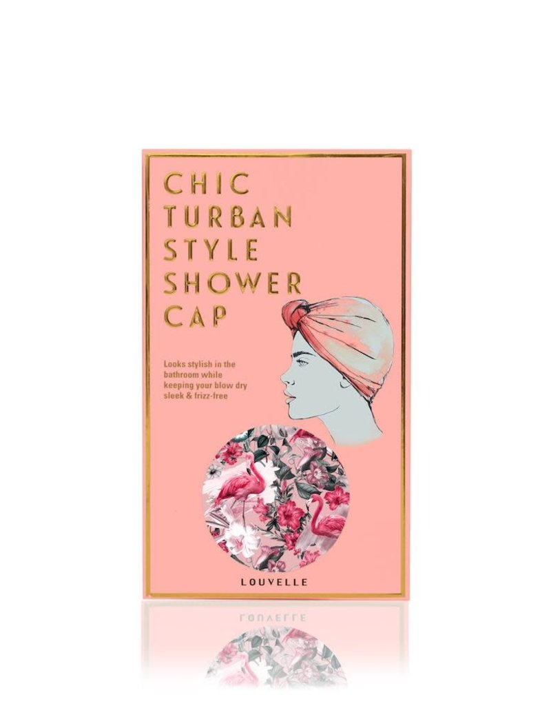 Dahlia Shower Cap - Florida Flamingo