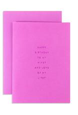 Wifey for Lifey Birthday Card