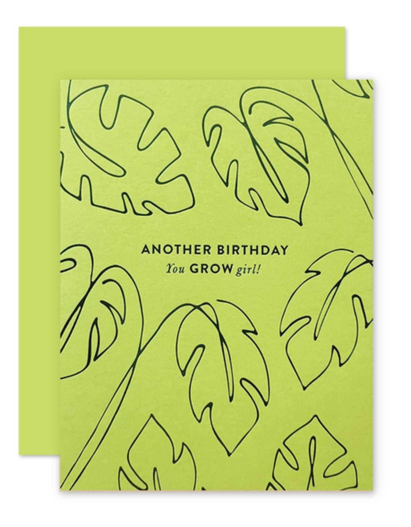 Grow Girl Birthday Card