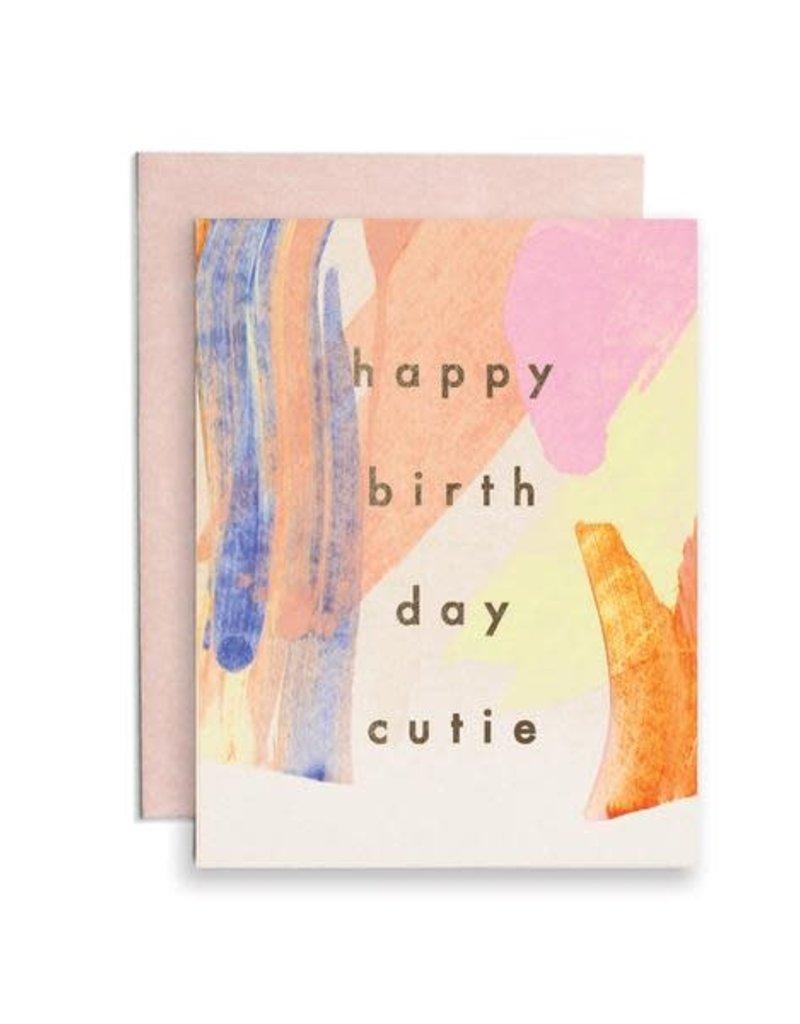Happy Birthday Cutie Card