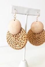 Celeste Woven Earrings - Brown