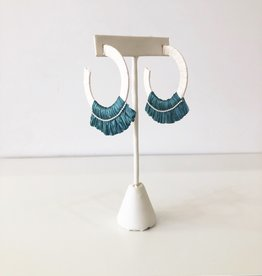 Summer Rafia Hoop - Teal