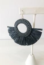 Maya Rafia Earring - Black