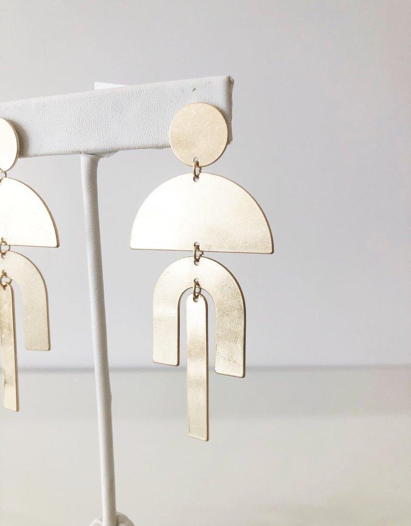 Luna Earrings - Gold