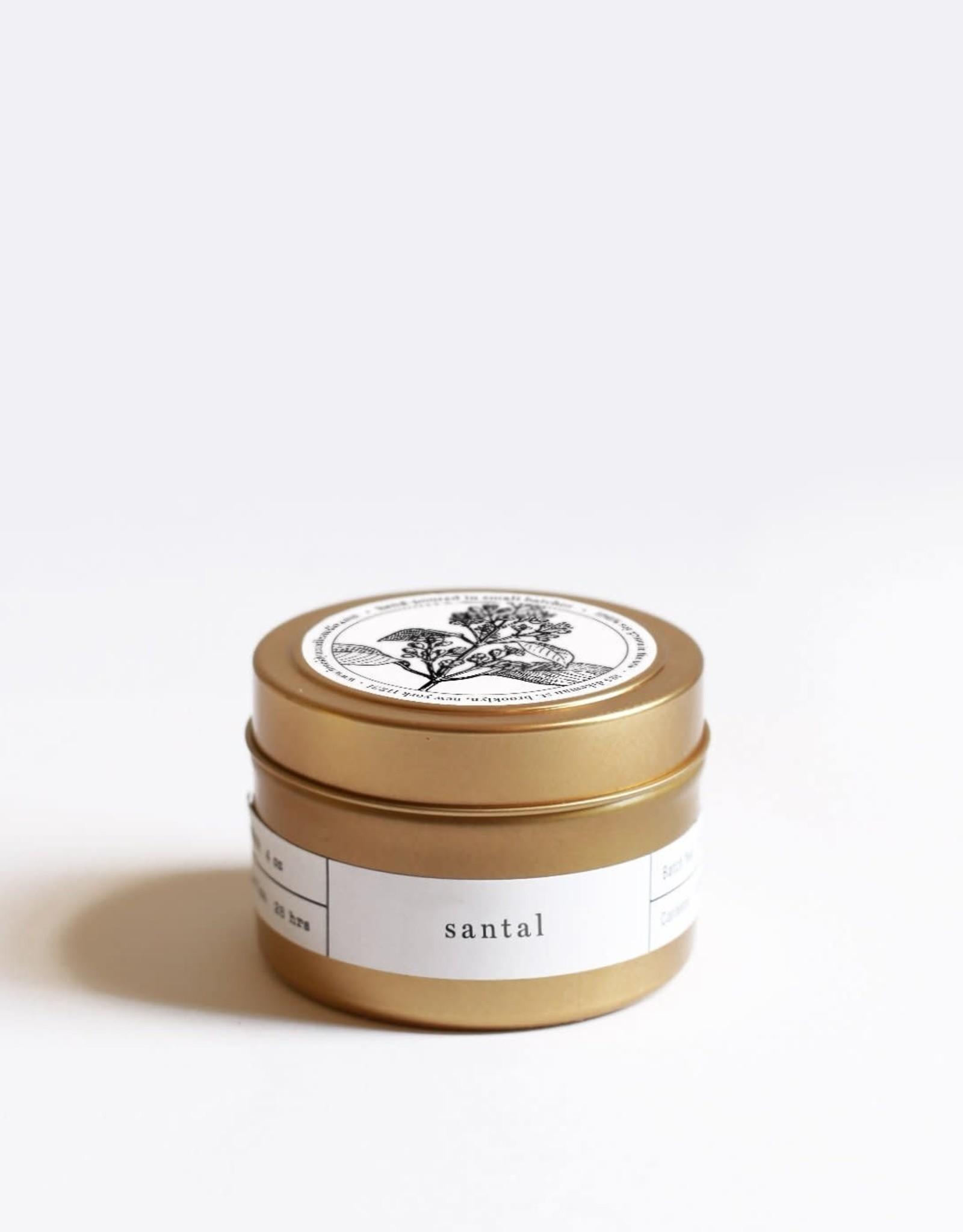 Santal Gold Travel Candle
