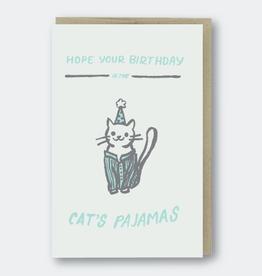 Cat's Pajamas Birthday Card