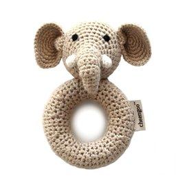 Elephant Ring Hand Crocheted Rattle