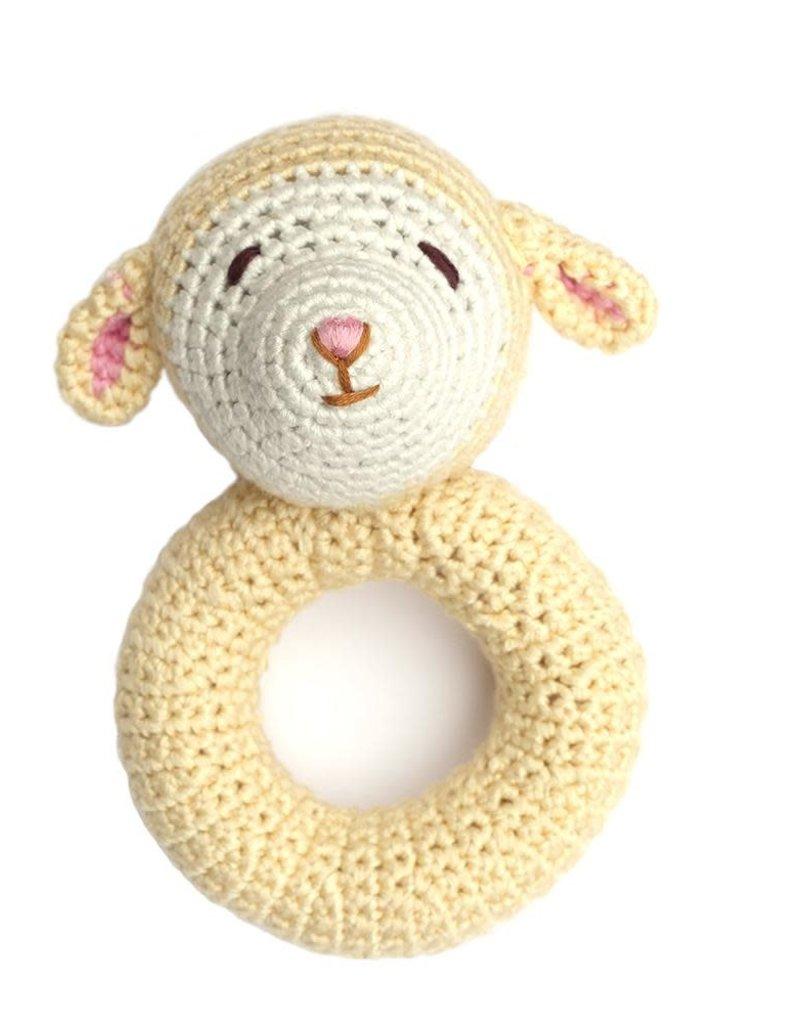 Lamb Ring Crocheted Rattle