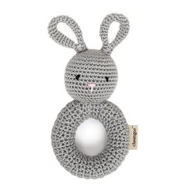 Bunny Ring Hand Crocheted Rattle