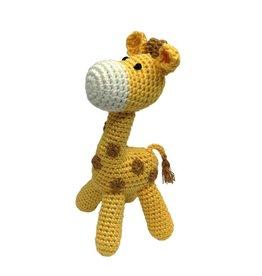 Standing Giraffe Hand Crocheted Rattle