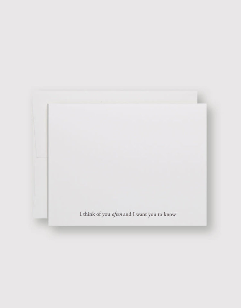 I Think of You Often Card