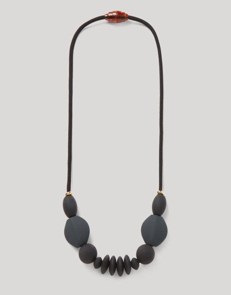 The Signature Necklace - Charcoal