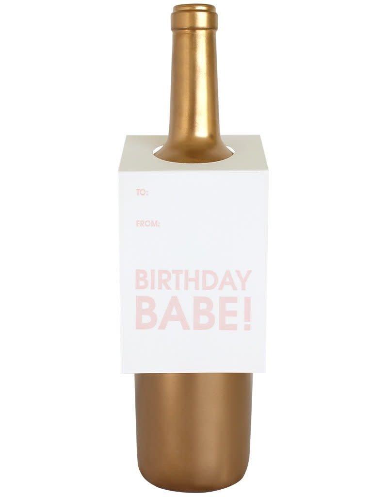 Birthday Babe Wine Tag - Single