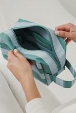 Dopp Kit - Teal Stripe