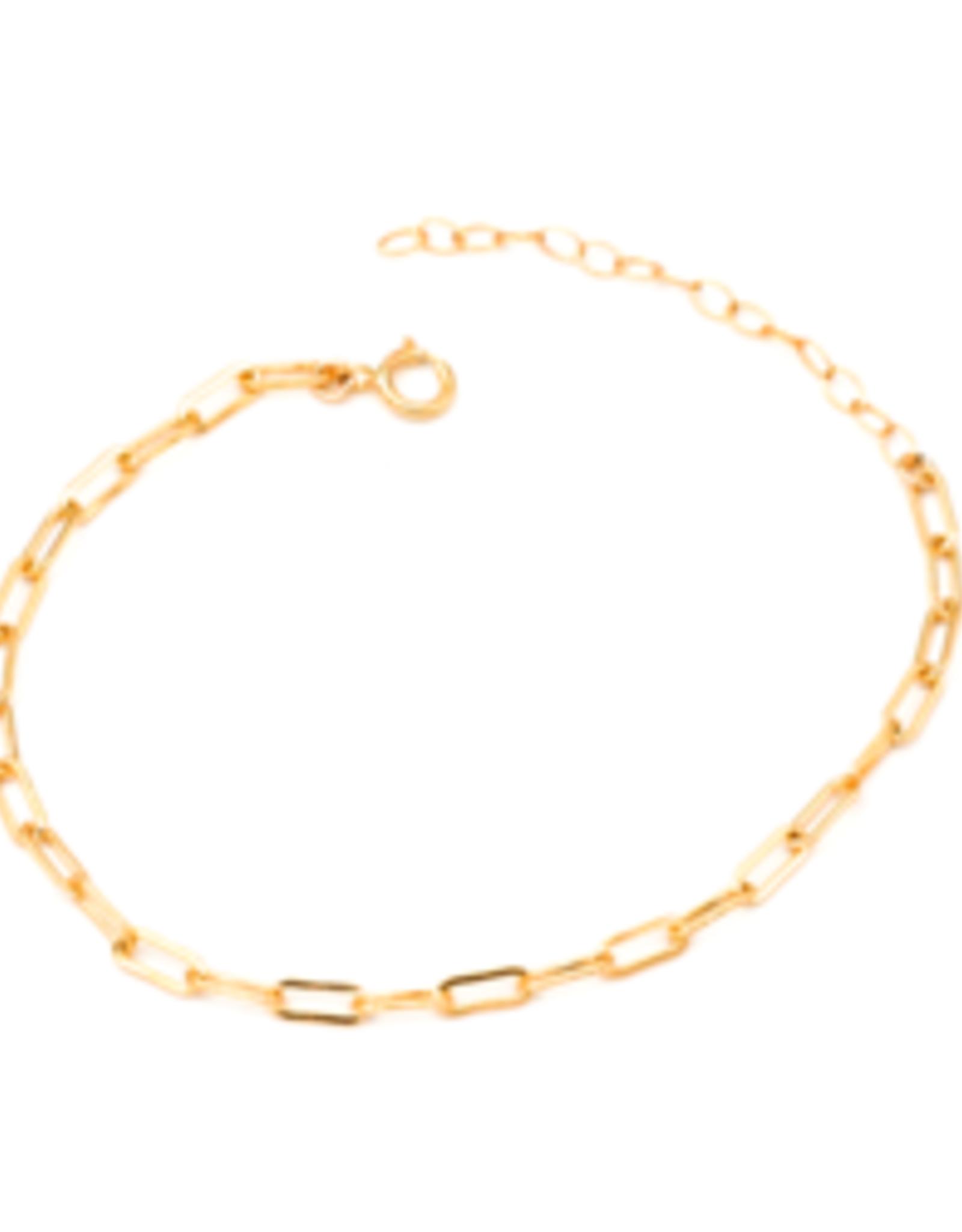 Solid Link Chain Bracelet