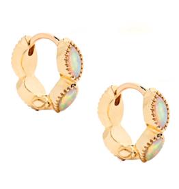 Nora Opal Huggie Earrings