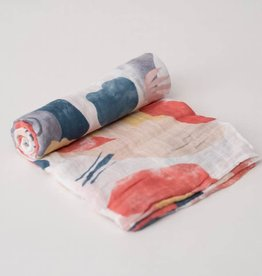Cotton Muslin Swaddle Single - Jurassic Camo