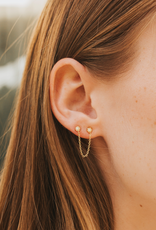 Nadia Double Stud Earring - Single