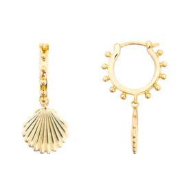 Julia Shell Huggie Earrings