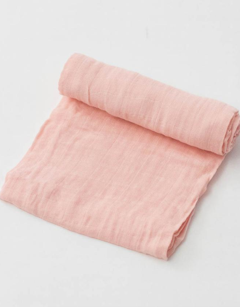 Cotton Muslin Swaddle Single - Rose Petal