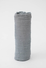 Cotton Swaddle - Navy Micro Gingham