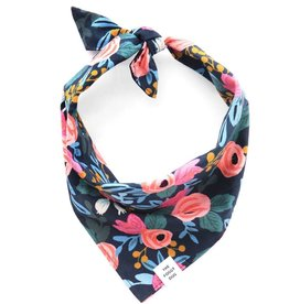 Rosa Floral Navy Dog Bandana - Large
